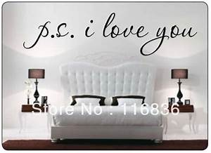 promotion psi love you famous wall decal quote sayings With black letter wall decals