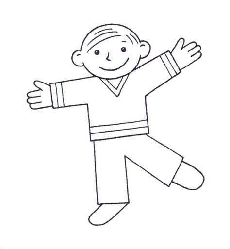 Flat Stanley Template Flat Stanley Template