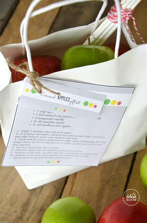 caramel apples gift kit  fall printables  idea room