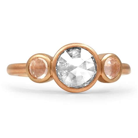 Rose Cut Three Stone Ring From Brilliant Earth  Stylin. Sunburst Wedding Rings. Channel Set Band Engagement Rings. Curved Engagement Rings. Gold Uk Engagement Rings. Pattern Engagement Rings. Side Accent Engagement Rings. Bride Wars Engagement Rings. Class Rings