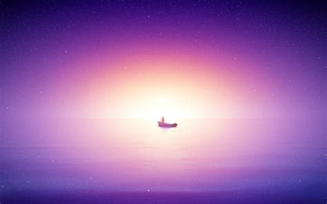 wallpaper  sunrise bright purple sea hd