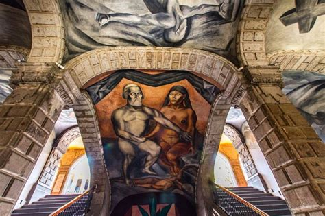 Jose Clemente Orozco Murales San Ildefonso by Jose Clemente Orozco Cortes Y Malinche Mexico City