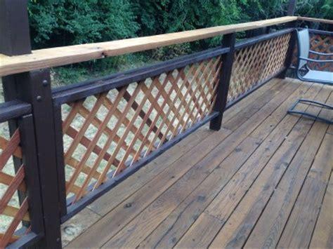 Two Tone Lattice Railings   Colorado Deck Master