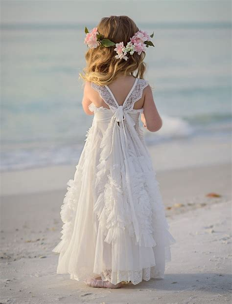 beach flower girls ideas  pinterest flower
