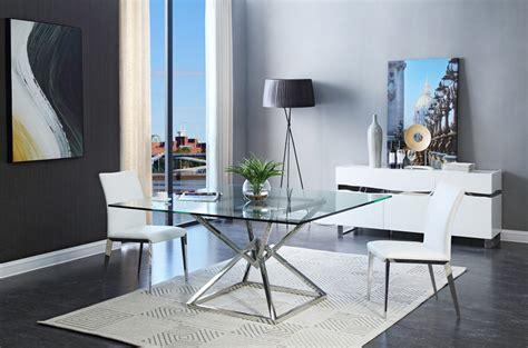 modrest xander modern square glass dining table modern