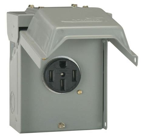 amp temporary rv power outlet outdoor receptacle plug