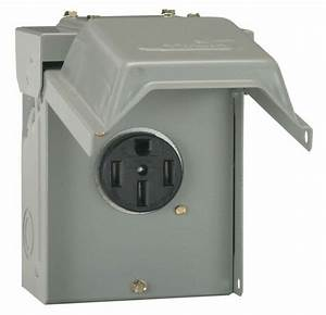 50 Amp Temporary Rv Power Outlet Outdoor Receptacle Plug Housing Weather Proof 691197905942