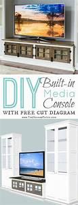 diy furniture diy built in media console step by step With built in media console