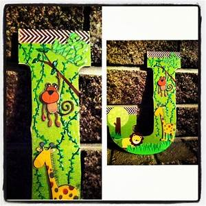jungle themed nursery letter jungle pinterest With jungle letters for baby room