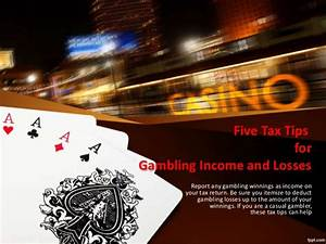 Five tax tips for gambling income and losses