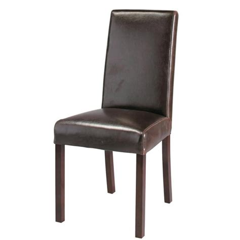 chaise simili cuir marron housse de chaise en cuir 28 images chaise en cuir et
