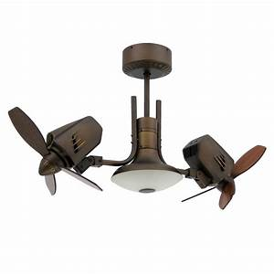 Mustang ii dual oscillating ceiling fan