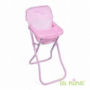Chaise Haute Metal : chaise haute de poup e pliable assise en tissu vichy rose les louloutins ~ Teatrodelosmanantiales.com Idées de Décoration