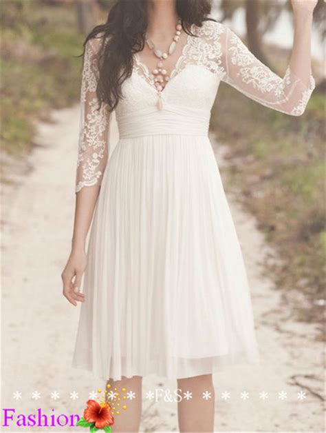 short lace wedding dress ivory wedding dress simple long