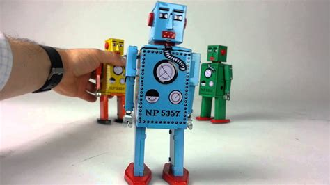 Liliput Tin Toy Wind Up Robots