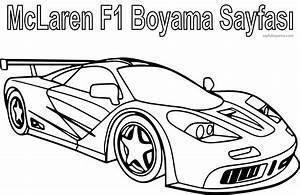 Mclaren F1 Spor Araba Boyama Sayfas