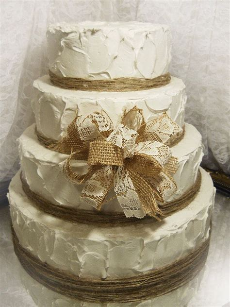 Southern Blue Celebrations Burlap And Lace Cake Ideas And