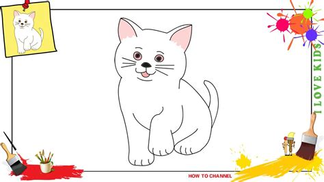 draw  cat  simple easy slowly step  step