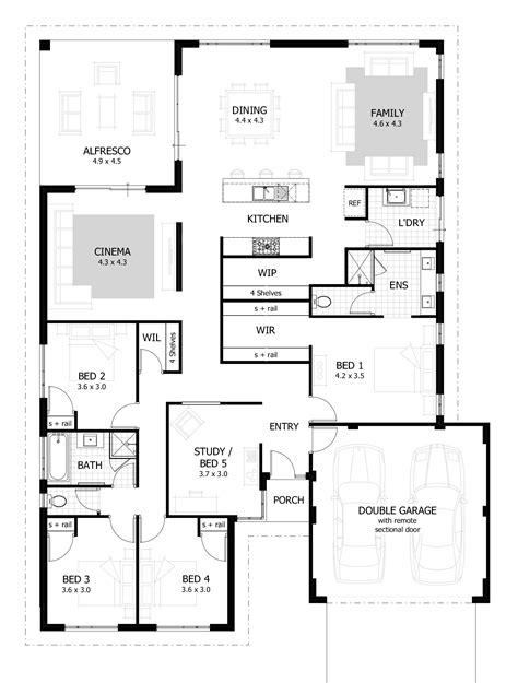 four bedroom house plans one 4 bedroom house plans home designs celebration homes