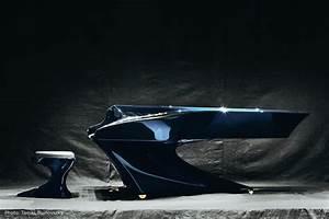 Wonderfully Futuristic Piano Design by Gergely Bogányi