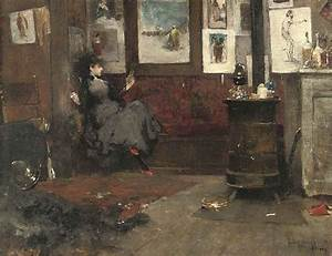 Dudley Hardy (1865-1922) , A rest in the artist's studio ...