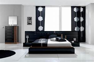House Designs: Black And White Contemporary Modern Bedroom