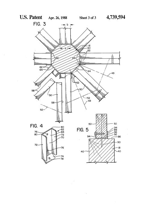 patent us4739594 gazebo structure and method of assembling the same patents