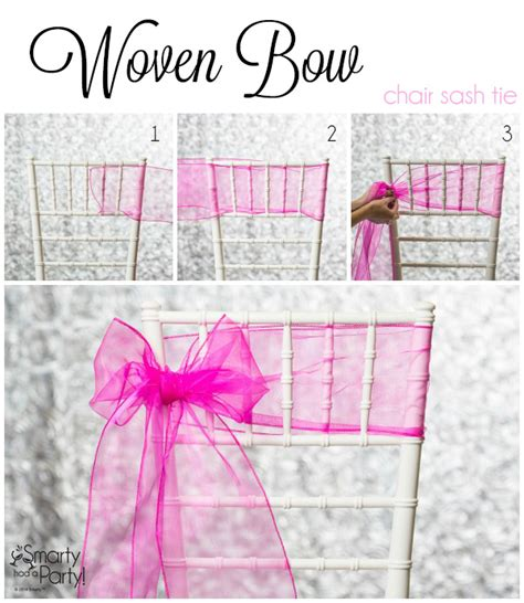 3 chiavari chair sash ties smarty had a