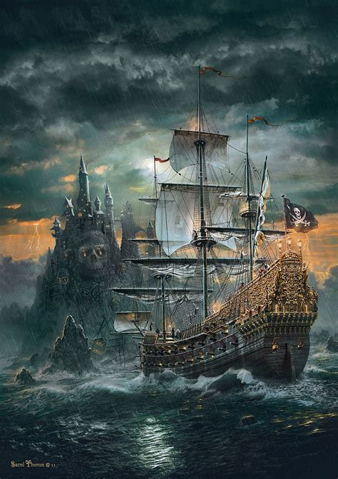 Puzzle Boat the pirate ship jigsaw puzzle puzzlewarehouse