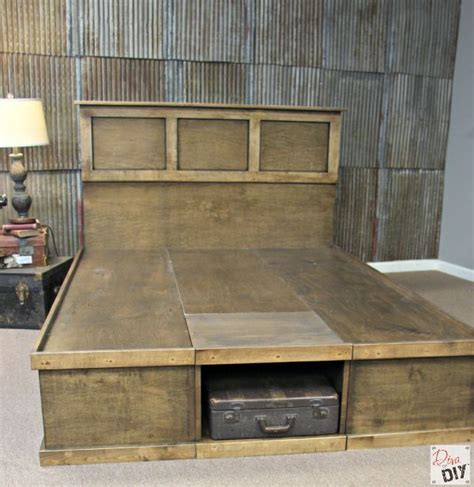 platform bed  storage tutorial house diy platform bed platform bed  storage bed