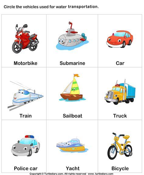 Name Of Water Transport Worksheet