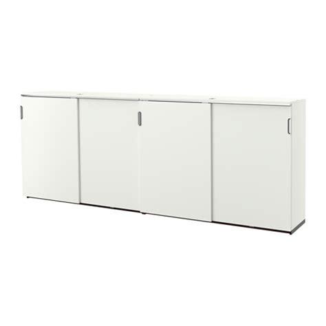 Ikea Desk Tops Perth by Galant Storage Combination W Sliding Doors White Ikea