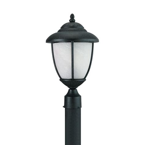 led light bulb for outdoor l post sea gull lighting yorktown 1 light outdoor forged iron