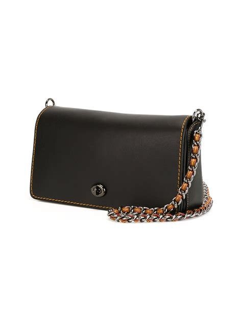 lyst coach crossbody clutch bag  black