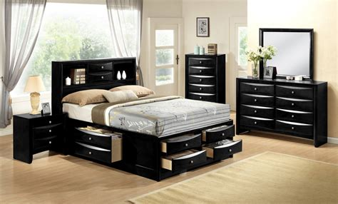 emily black storage bedroom set bedroom furniture sets