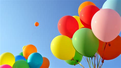 wallpaper balloons colorful clear sky  photography