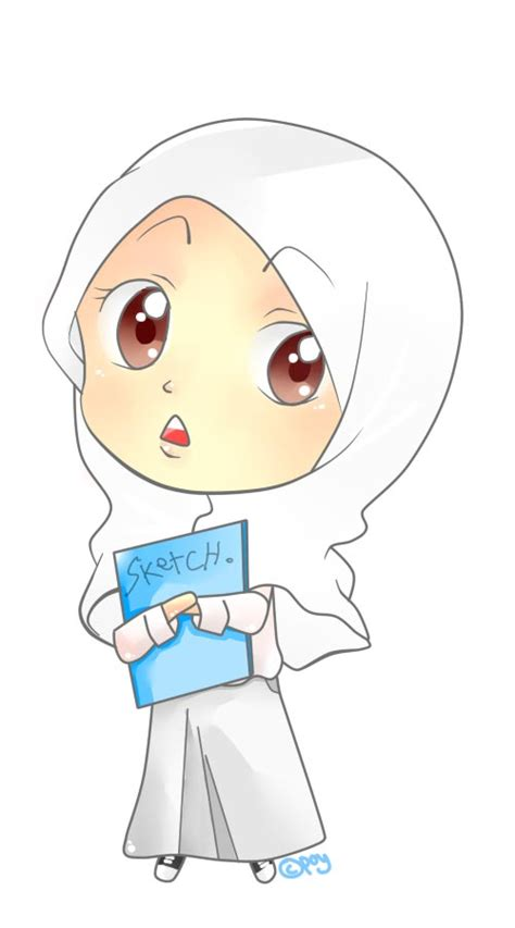 anime wanita berhijab keren gambar kartun wanita berhijab paling imut dan lucu