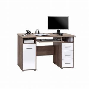 Computertisch Weiß Hochglanz : computertisch mit tastaturauszug eiche tr ffel ~ Indierocktalk.com Haus und Dekorationen