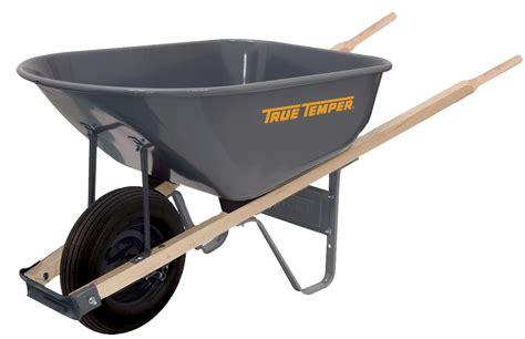 cubic foot steel wheelbarrow true temper tools