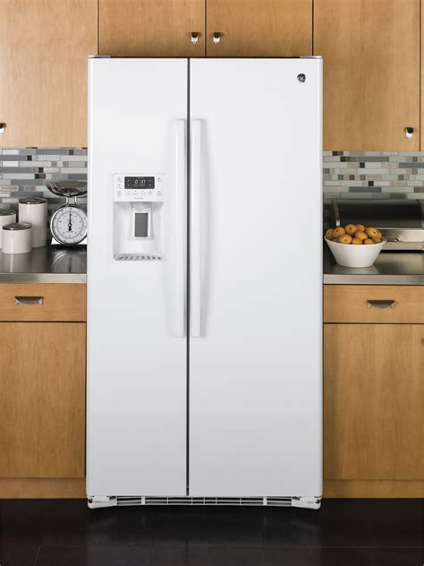 pzskgeww ge profile series  cu ft counter depth side  side refrigerator white