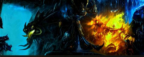 world  warcraft dual monitor wallpaper