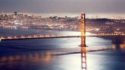 Hdr 4k Francisco San Night Bridge Lights