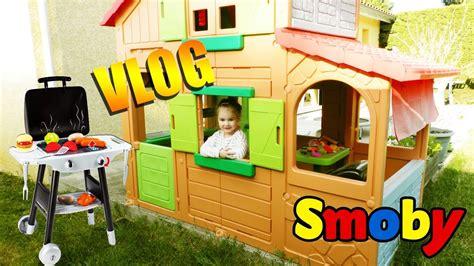 Cabane D'extérieur Maison Duplex Pour Enfant Et Barbecue