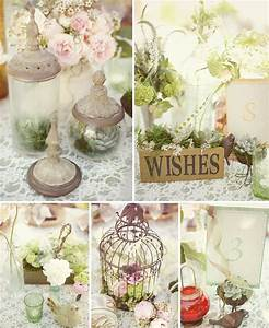 Shabby chic wedding table decorations living room for Shabby chic table decorations