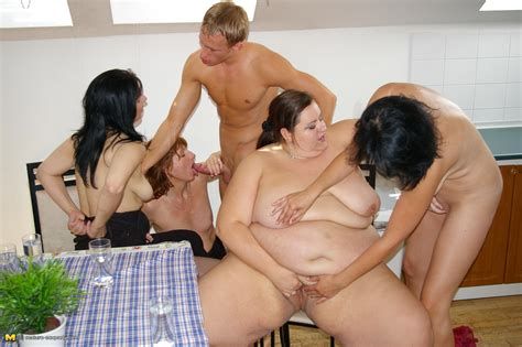 Four Mature Sluts Begging For One Hard Cock
