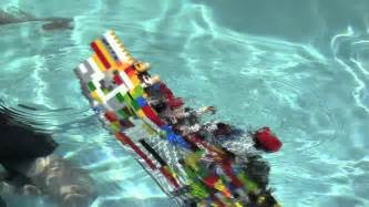 lego titanic sinks youtube