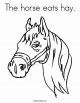 Coloring Oats Horse Template Rodenrijs Berkel Hay Jeugdfestival sketch template