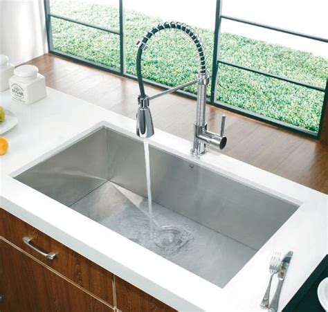deep undermount kitchen sinks vigo huge deep undermount rectangular stainless steel