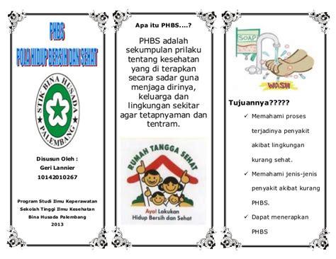 Materi Sekolah Ibu Hamil Leaflet Phbs