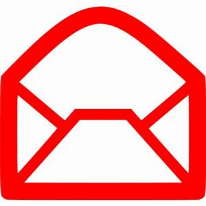 Red email icon - Free red email icons